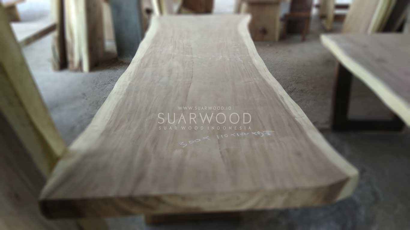 unfinished suar wood dining table